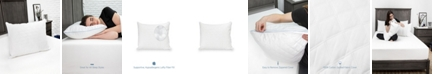 EcoPEDIC Fiber Bed Pillow with 100% Cotton Fabric and 250 Thread Count 100% Cotton Zippered Pillow Cover