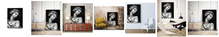 "Giant Art 14"" x 11"" Ornate Sculpture I Art Block Framed Canvas"