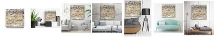 "Giant Art 30"" x 30"" Arabic Abstract I Art Block Framed Canvas"