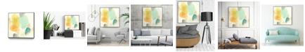 """Giant Art 20"""" x 20"""" River Stones I Art Block Framed Canvas"""