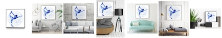 "Giant Art 30"" x 30"" Yoga Flow I Art Block Framed Canvas"