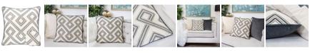 Homey Cozy Camila Embroidery Square Decorative Throw Pillow
