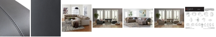 Furniture Avenell 3-Pc. Leather Sectional with Full Sleeper Sofa & Chaise, Created for Macy's