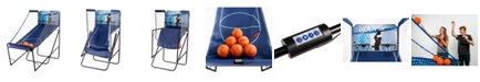 Blue Wave Hoops Dual Basketball Arcade Game with Electronic Digital Scoring