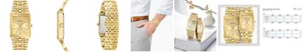 Bulova Men's Futuro Diamond-Accent Gold-Tone Stainless Steel Bracelet Watch 30x45mm