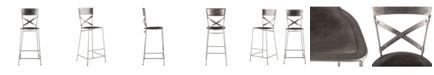 World Interiors Artezia Reclaimed Antique Nickel Bar Chairs, Set of 2