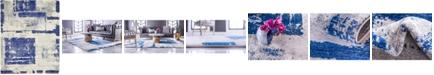 Bridgeport Home Wisdom Wis4 Navy Blue 8' x 10' Area Rug