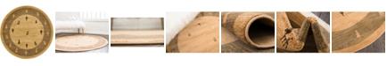 "Bridgeport Home Ojas Oja1 Tan 3' 3"" x 3' 3"" Round Area Rug"