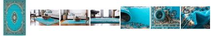 Bridgeport Home Birsu Bir1 Turquoise 5' x 8' Area Rug