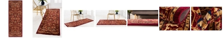 "Bridgeport Home Thule Thu1 Burgundy 2' 2"" x 6' Runner Area Rug"
