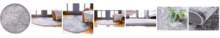 Bridgeport Home Anika Ani3 Gray 6' x 6' Round Area Rug