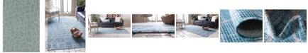 """Bridgeport Home Pashio Pas7 Light Aqua 8' x 11' 4"""" Area Rug"""