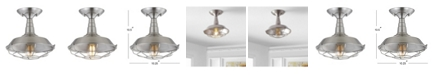 "JONATHAN Y Gabe 10.2"" Metal LED Semi-Flush Mount"