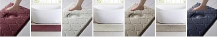 "VCNY Home Amadora Quatrefoil 24"" x 60"" Memory Foam Bath Runner"