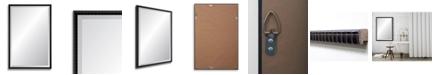 "Reveal Frame & Decor Reveal Black Bamboo Beveled Wall Mirror - 24"" x 37.5"""