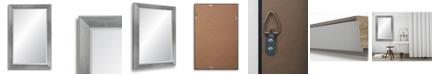 "Reveal Frame & Decor Reveal Brushed Chrome Beveled Wall Mirror - 27"" x 40.5"""