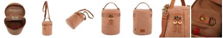 TSD BRAND Pine Hill Canvas Bucket Bag