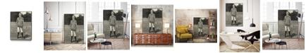 "Giant Art 14"" x 11"" Harpers Weekly Tennis III Art Block Framed Canvas"