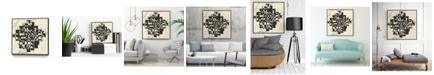 "Giant Art 30"" x 30"" Modern Map of Atlanta Art Block Framed Canvas"