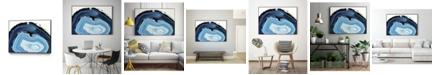 """Giant Art 40"""" x 30"""" Agate Studies I Art Block Framed Canvas"""