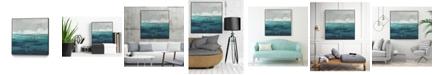 "Giant Art 20"" x 20"" Sea Foam Vista I Art Block Framed Canvas"