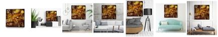 "Giant Art 20"" x 20"" Chestnut Illumination II Art Block Framed Canvas"