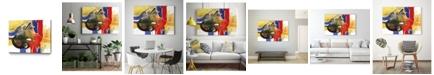 "Giant Art 40"" x 30"" Drama III Museum Mounted Canvas Print"
