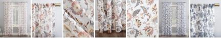"No. 918 Sarita Floral Print 51"" x 63"" Sheer Curtain Panel"