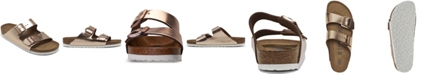 Birkenstock Women's Arizona Metallic Copper Leather Soft footbed Casual Sandals from Finish Line