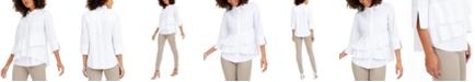 Alfani Tiered Shirt, Created for Macy's