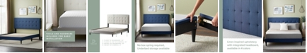 Dream Collection UpholsteredPlatformBed Frame withSquare TuftedHeadboard, King