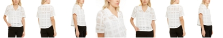 Alfani Grid-Print Shirt, Created for Macy's