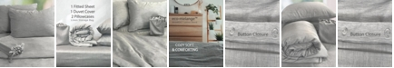 BedVoyage Eco-Melange 4 Piece Bed Bundle- Queen Duvet Cover Set