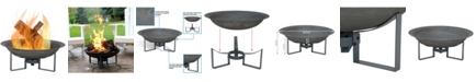 Sunnydaze Decor Modern Fire Pit Bowl with Stand