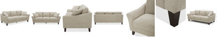 "Furniture Lylie 82"" Fabric Sofa, Created for Macy's"