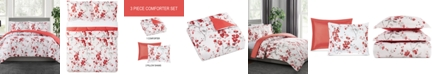 Pem America Cherry Blossom 3-Pc. Reversible King Comforter Set, Created for Macy's