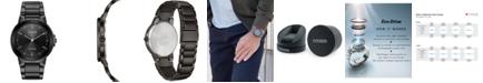 Citizen Men's Eco-Drive Axiom Gray Stainless Steel Bracelet Watch 41mm