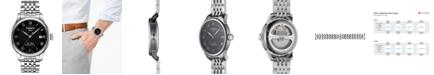 Tissot Men's Swiss T-Classic Le Locle Powermatic 80 Gray Stainless Steel Bracelet Watch 39.3mm