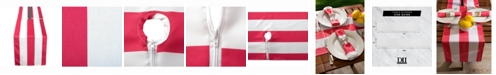 """Design Imports Coral Cabana Stripe Outdoor Table Runner with Zipper 14"""" X 72"""""""
