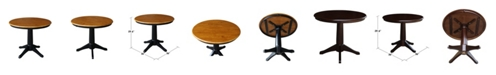 """International Concepts 36"""" Round Top Pedestal Table - 28.9""""H"""