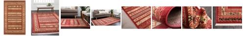 Bridgeport Home Ojas Oja4 Rust Red 5' x 8' Area Rug