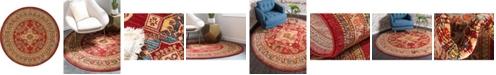 Bridgeport Home Harik Har5 Red 6' x 6' Round Area Rug