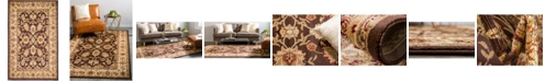 "Bridgeport Home Passage Psg3 Brown 3' 3"" x 5' 3"" Area Rug"
