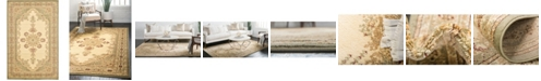 "Bridgeport Home Belvoir Blv1 Ivory/Green 10' 6"" x 16' 5"" Area Rug"