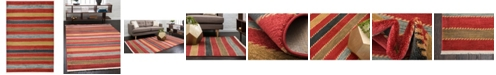 Bridgeport Home Ojas Oja1 Red 6' x 9' Area Rug