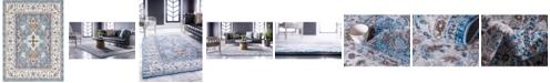 Bridgeport Home Wisdom Wis2 Light Blue 9' x 12' Area Rug