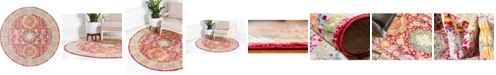 Bridgeport Home Malin Mal1 Red 6' x 6' Round Area Rug
