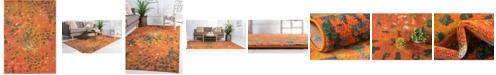 Bridgeport Home Adah Ada1 Orange 7' x 10' Area Rug