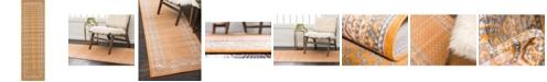 """Bridgeport Home Axbridge Axb1 Orange 2' 9"""" x 9' 10"""" Runner Area Rug"""