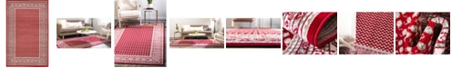 Bridgeport Home Axbridge Axb1 Red 5' x 8' Area Rug